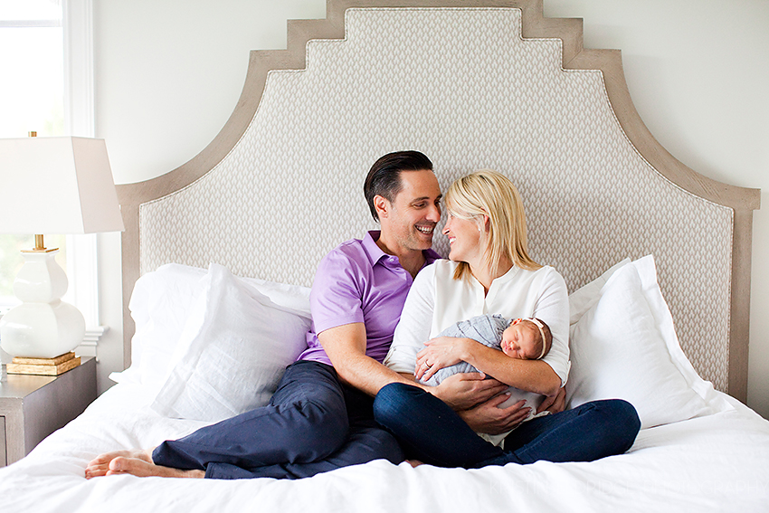 newborn photography session at home newport beach