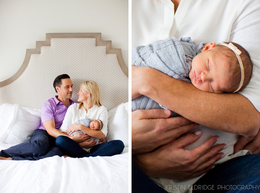 newborn photo session at home in newport beach