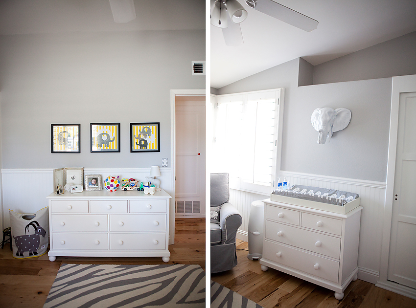 Elephant Themed Nursery Los Angeles Baby Photographer