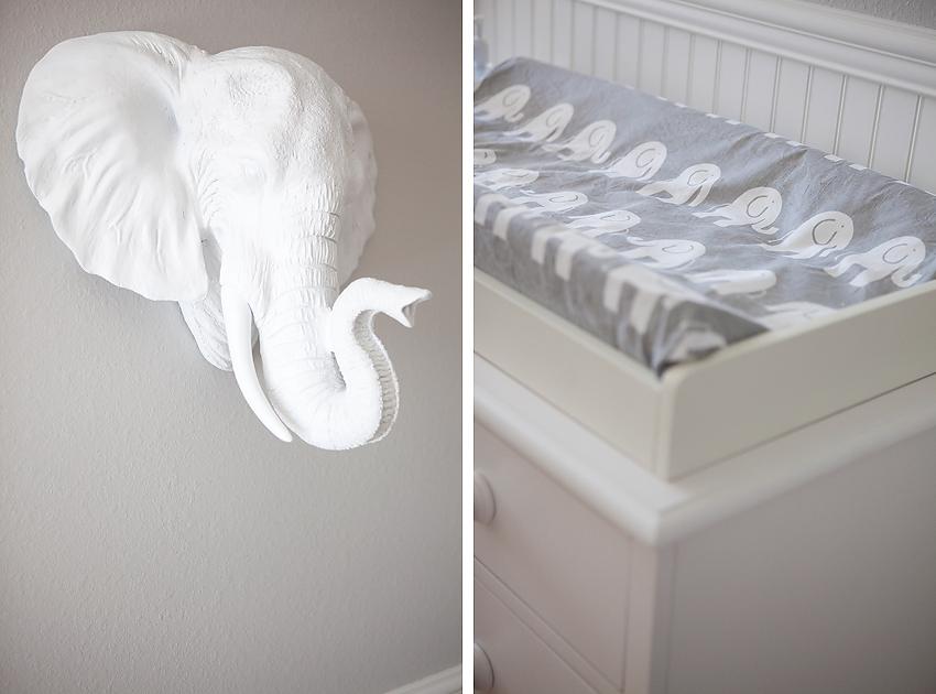 Elephant Themed Nursery Los Angeles Baby Photographer
