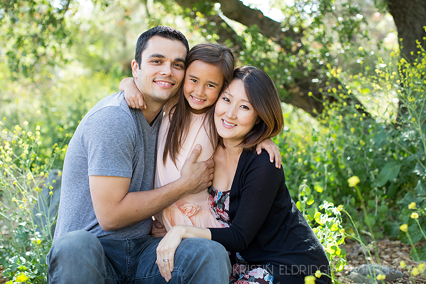 photo of a family hugging