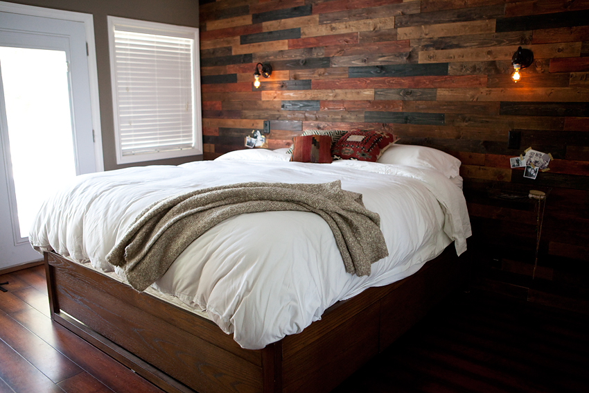 Painted Plank Wood Walls