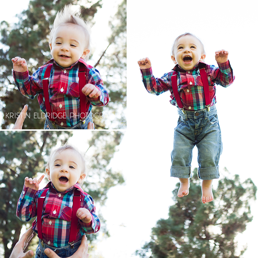 photo of a child being thrown in the air