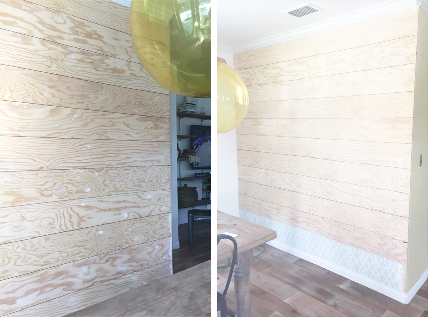 Easy Shiplap Wall DIY