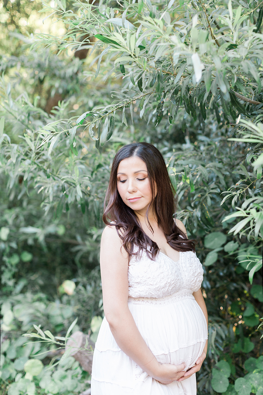 Orange County Maternity Photographer White Dress