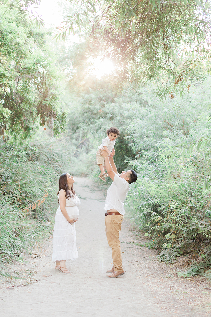 Orange County Maternity Photographer Family with toddler