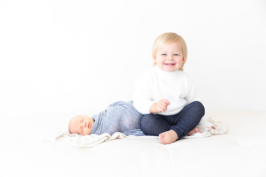 Newborn with toddler photography