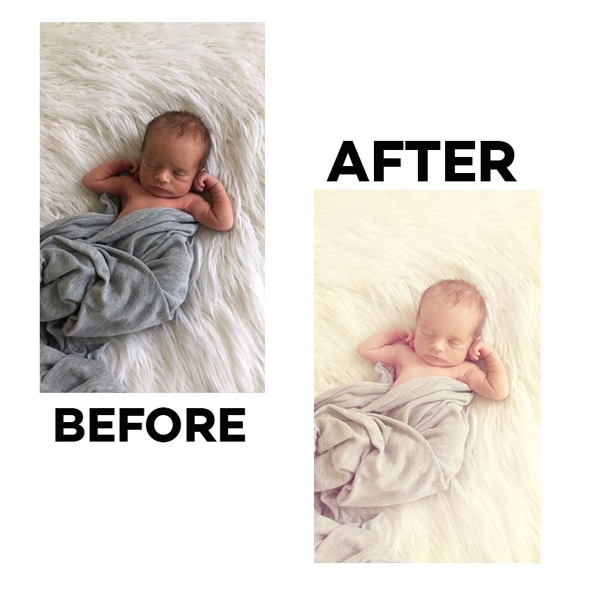 take your own newborn photos
