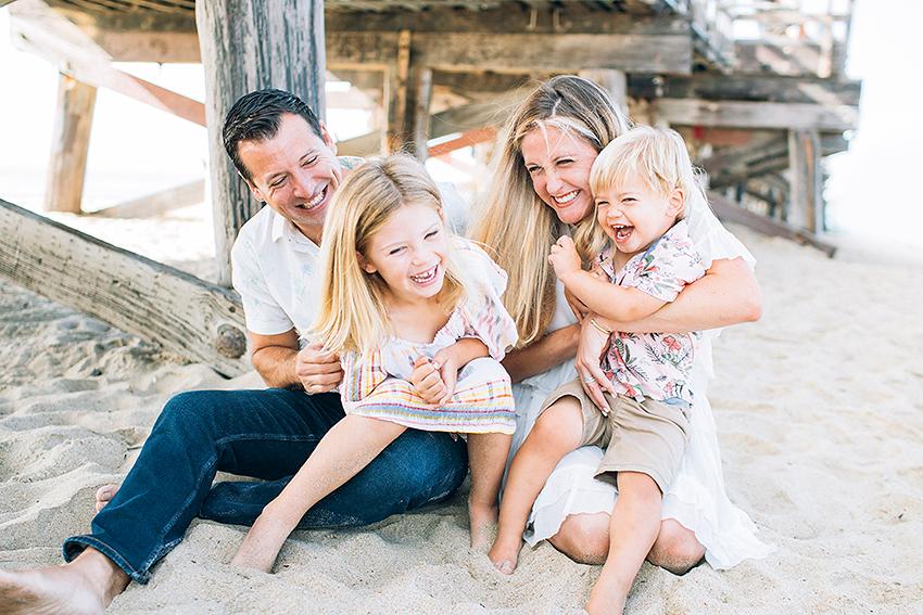 seal beach pier family photos