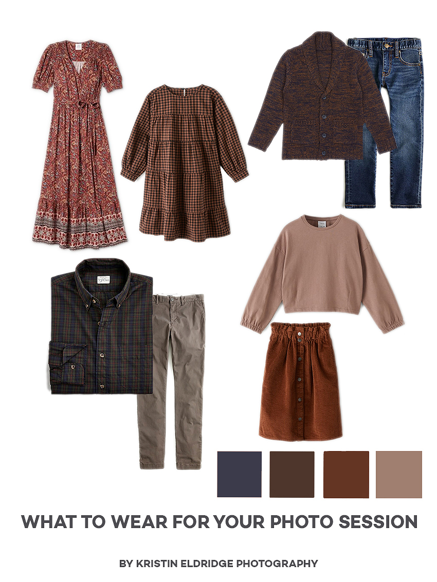 What to Wear for your Photo Session- Earth Tones